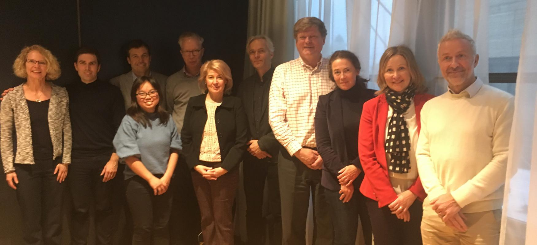 Group photo of the Nordic Scalers advisory board in 2019