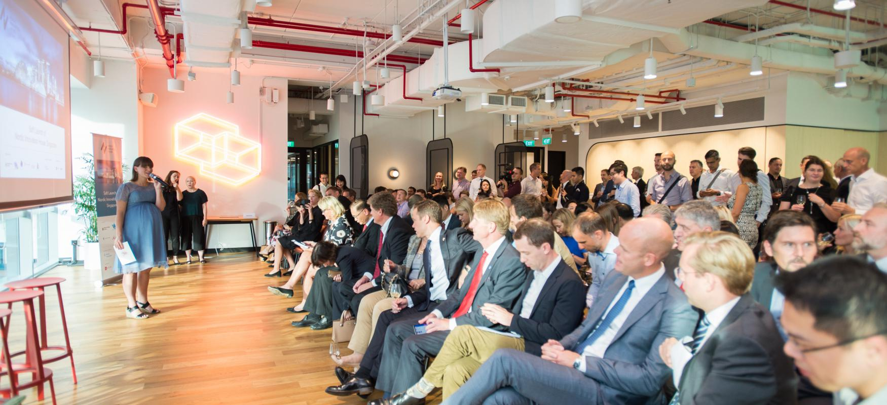 During the soft launch of Nordic Innovation house Singapore