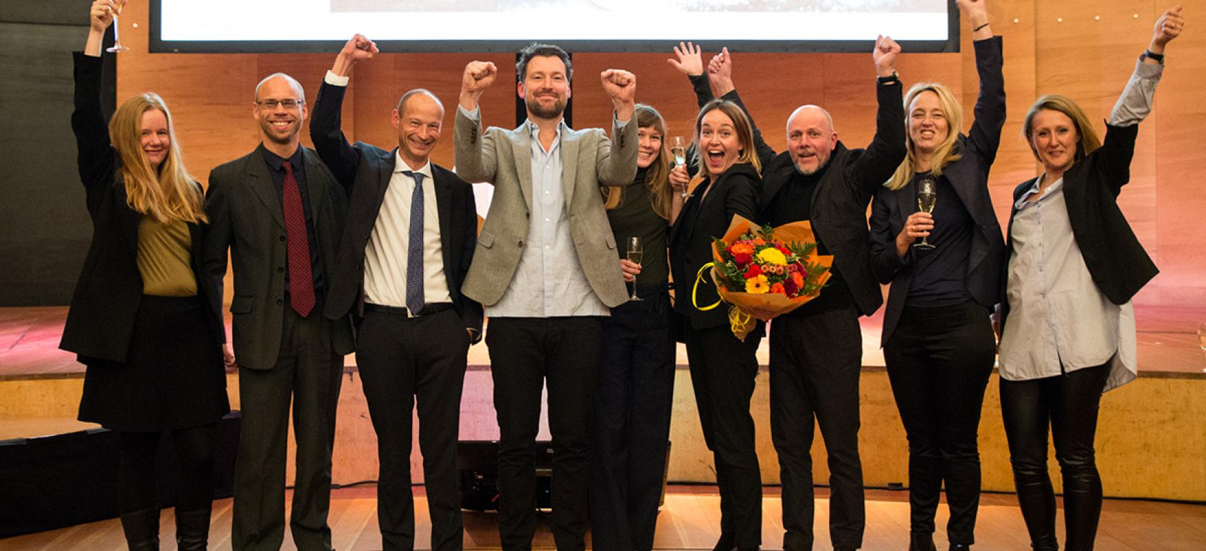 The Nordic winner team of the Nordic Built Cities Challenge Awards.