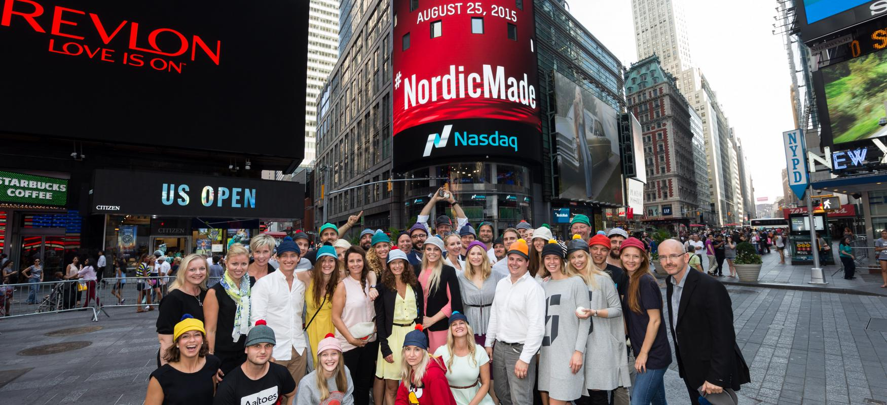 The #NordicMade team in New York, Times Square.