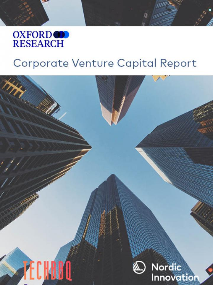 Front page to the Oxford Research report: Corporate Venture Capital Report 2019