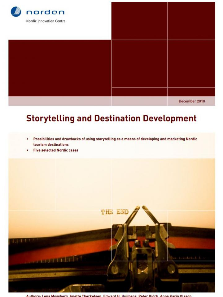 Frontpage to Storytelling and destination development report from 2010