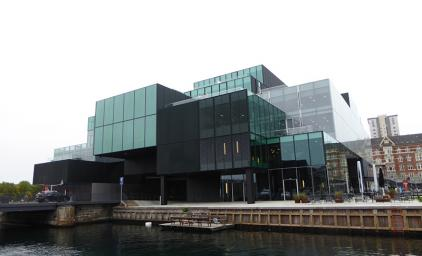 Photo of Bloxhub in Copenhagen seen from the canal.