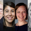 The six speakers at the webinar 16 June 2020: Marthe Haugland (Nordic Innovation), Virginia Vegas (Startup Norway / Angel Challenge), Liva Echwald-Tjisen (Female Founders of the Future), Thorbjorg Helga Vigfusdottir (Kara Connect), Amel Gaily (FIBAN), Anette Nordvall (Keiretsu Forum Nordics, and early-stage investor).