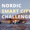 "The text ""Nordic Smart City Challenge"" and logos over a picture of a fancy Nordic building."